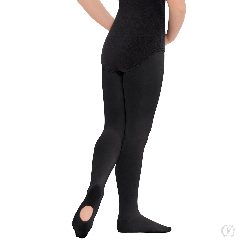 252251c5966b73 210c - Eurotard Girls Non-Run Convertible Tights with Soft Knit Waistband  by EuroSkins