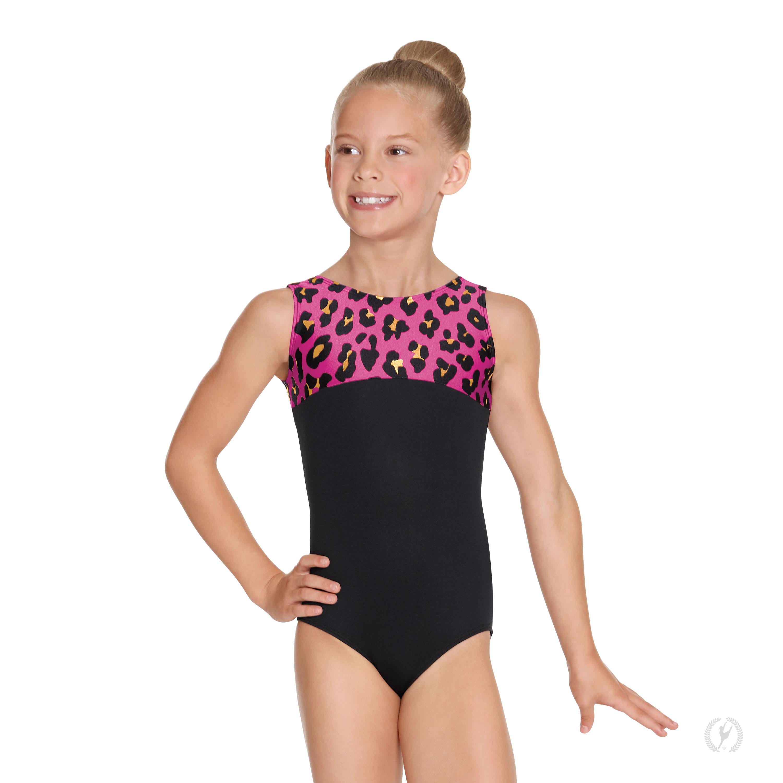 dd4051467d05 Girls Luxe Leopard Color Block Gymnastics Leotard | 22550 | | EUROTARD.com