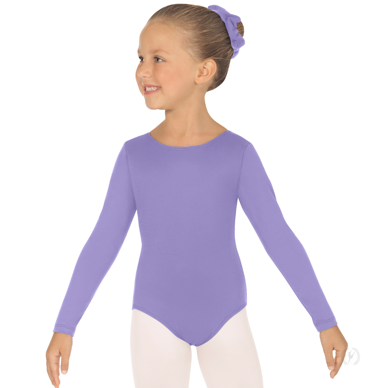 1f48473c0 Girls Long Sleeve Leotard with Tactel® Microfiber