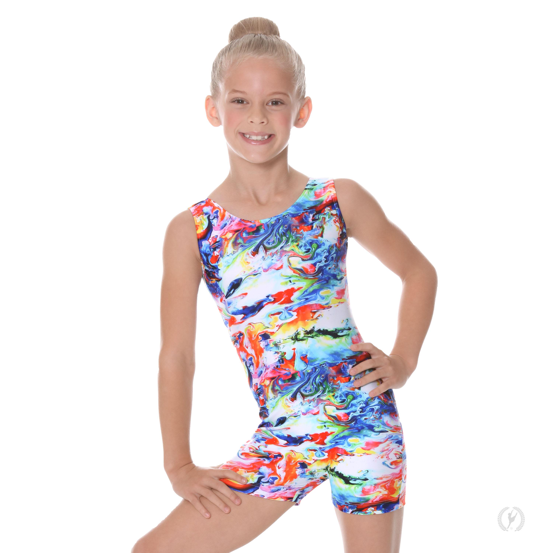 989fd25a4eb2 Child Crayon Art Gymnastics Biketard