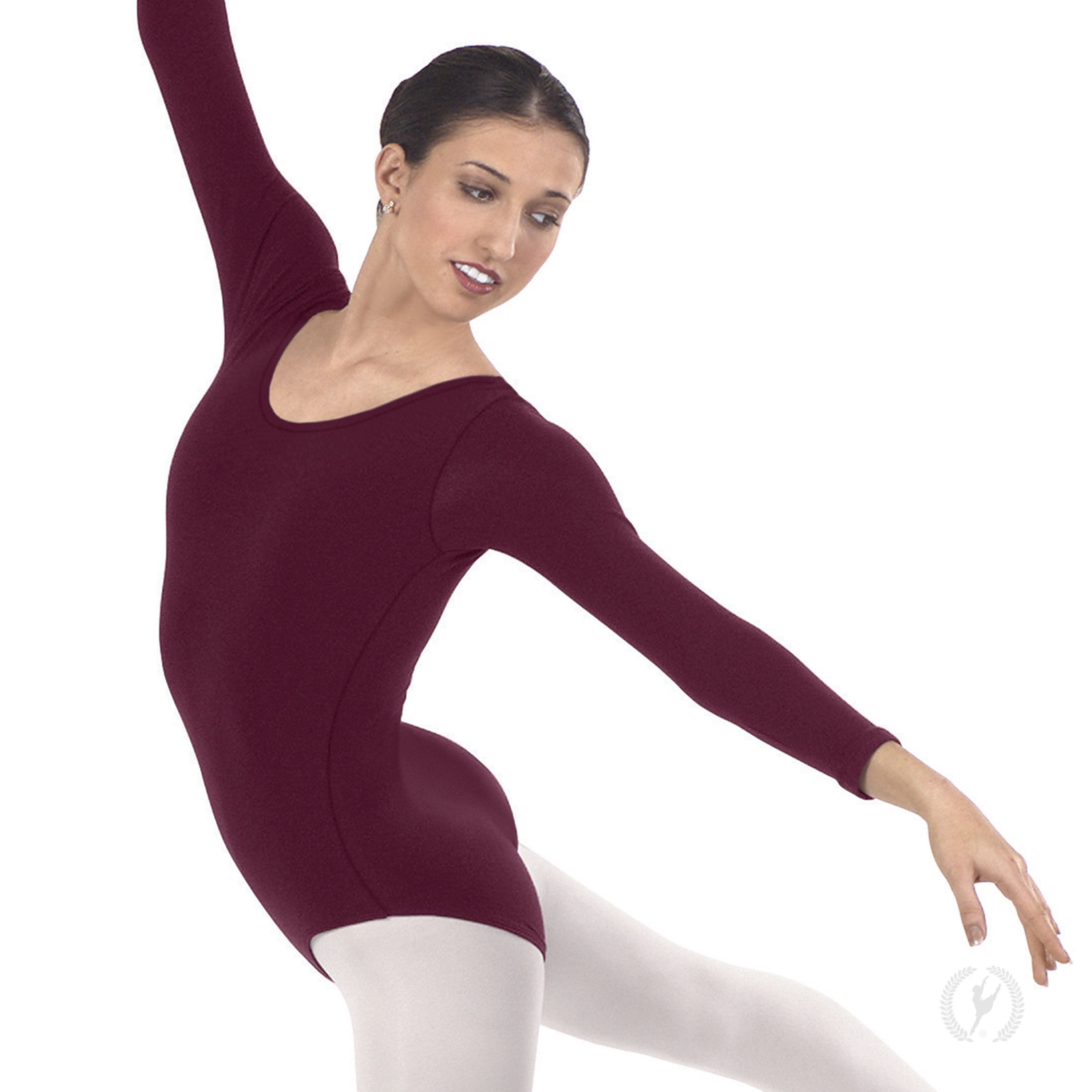 Womens Long Sleeve Leotard With Cotton Lycra 174 10265