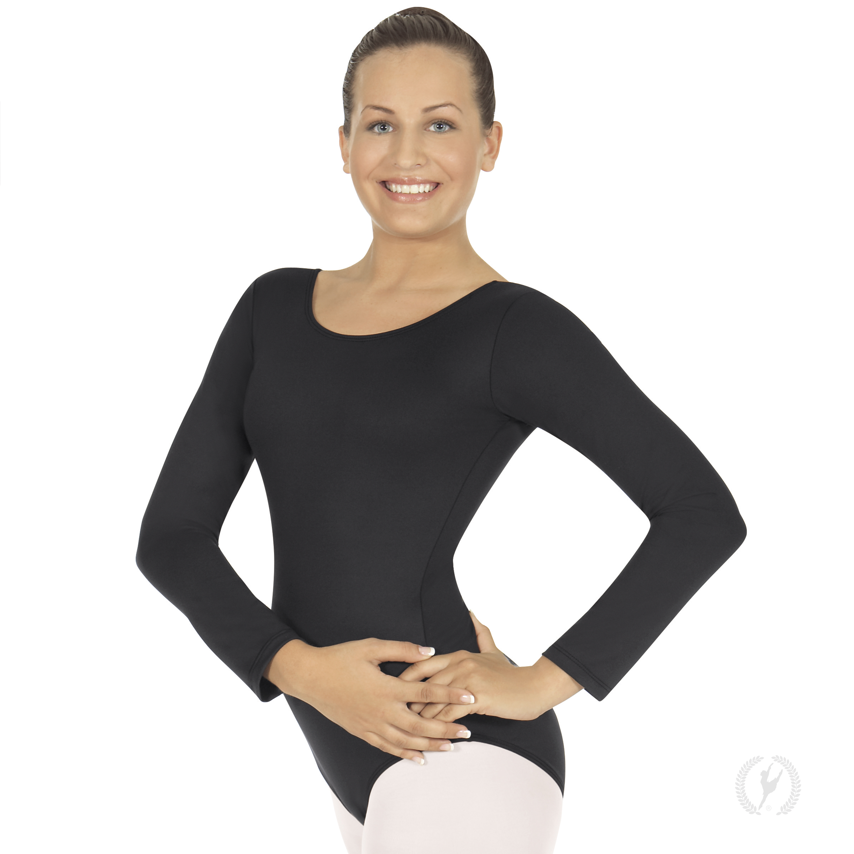 56d9b70e12683 Womens Cotton Spandex Long Sleeve Tee