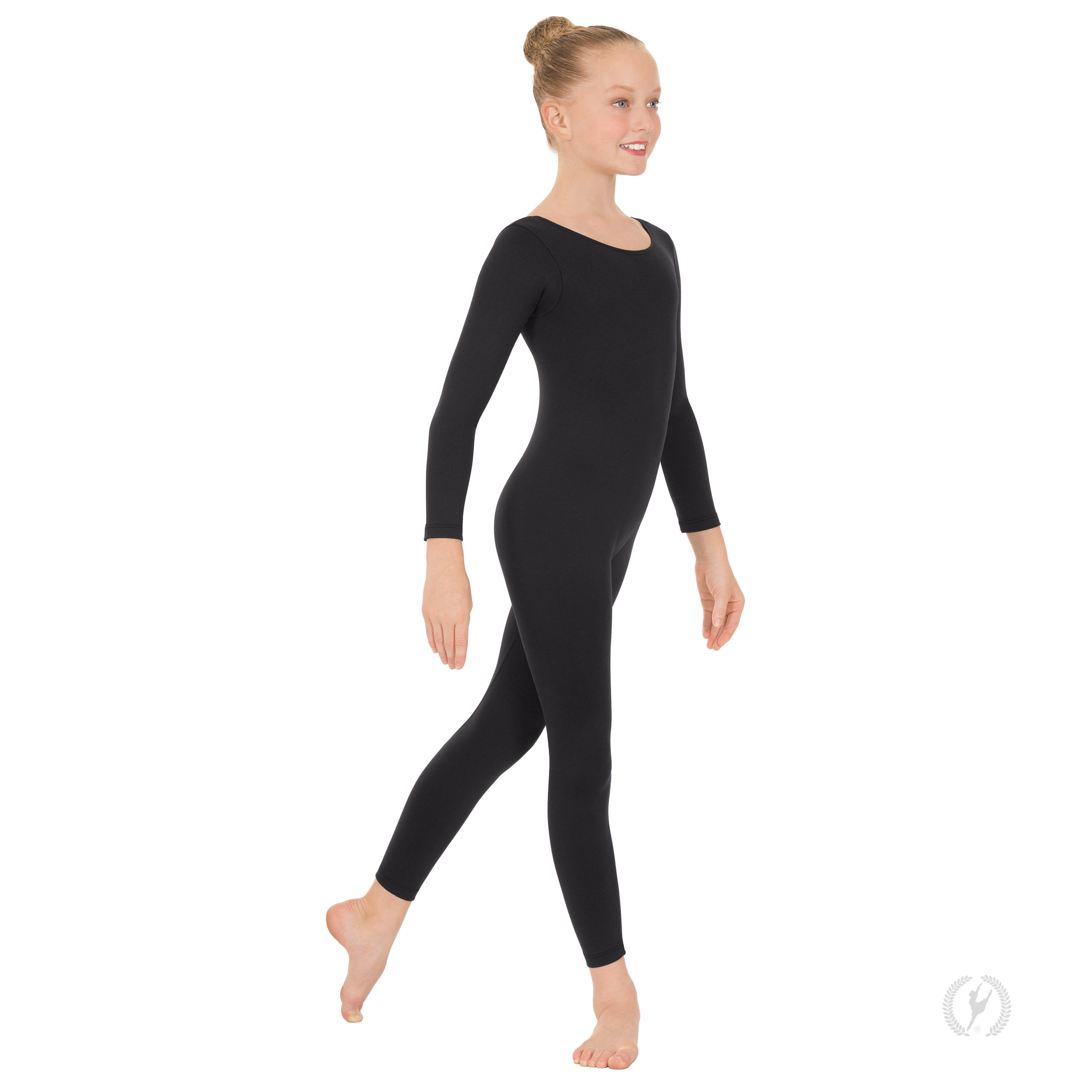 Youth Unisex Long Sleeve Unitard with Cotton Lycra ...