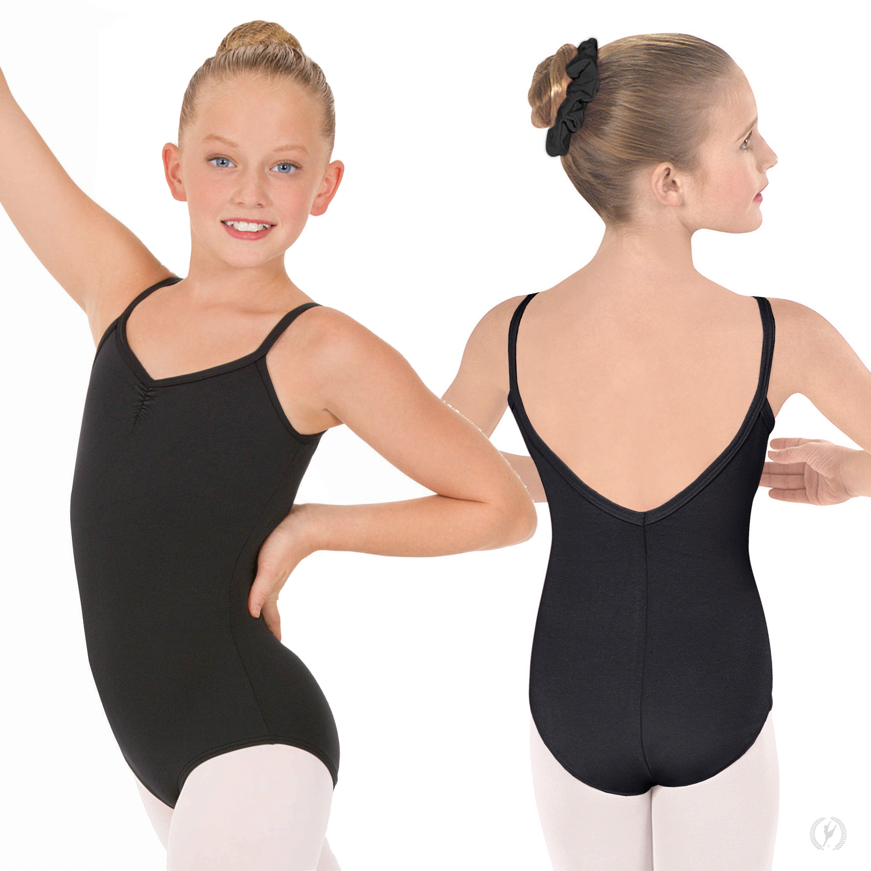 28fc1cca49f3 Girls Pinch Front Camisole Leotard with Tactel® Microfiber