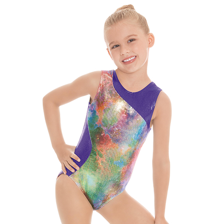 ccde958b0 Child Contrast Metallic Mermaid Gymnastics Leotard